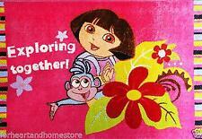 Kids girls Rug 133x200cm Disney Dora the explorer- Rubberbacking Non-slip