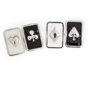 Vintage Enamel Playing Card Double Cufflinks
