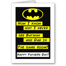 """Unique Generic Typographic """"Batman"""" Fathers Day Card Gift"""