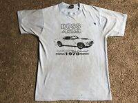 Vintage FORD MUSTANG Car T Shirt Men's M Screen Stars Single Stitch Blue 50/50