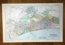 BACON LARGE MAP OF BOURNEMOUTH C1907 ORIGINAL