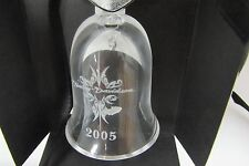 HARLEY DAVIDSON 2005 CRYSTAL BELL HOLIDAY ORNAMENT CHRISTMAS COLLECTOR NIB!