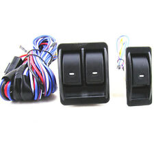 Top Quality Car Truck 12V Power Window Switch Kits With Wiring Harness Universal