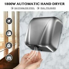 1800W Commercial Restroom Hand Dryer with Touchless Electric Air Hand Hygiene