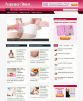 PREGNANCY FITNESS AFFILIATE WEBSITE WITH BANNERS  + STORE + NEW FREE DOMAIN