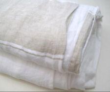 Williams Sonoma Home Linen Khaki Brown Monaco Stripe Queen Duvet Cover New
