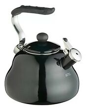 KitchenCraft - Le'Xpress New 2L Black Enamel Gas Stove Top Whistling Kettle
