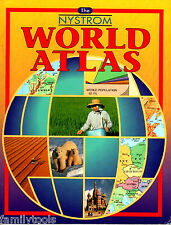 THE NYSTROM WORLD MAP ATLAS MAPS 6TH 7TH 8TH GRADE 6 7 8 GEOGRAPHY HOMESCHOOL