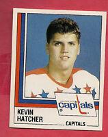 RARE 1987 PANINI # 179 CAPITALS KEVIN HATCHER ROOKIE STICKER   CARD