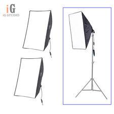 """2pcs Foto Estudio Iluminación Continua Softbox Luz de vídeo E27 50 * 70cm/20 * 28 """"Kit"""