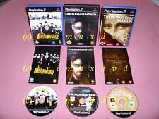 3x PS2 _ The Getaway & Headhunter & The Da Vinci Code Sakrileg _ Dt.Erstausgaben