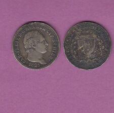GERTBROLEN  Italie Carlo Felice  Sardegna 1 Lire Argent 1825 Torino Silver Coin