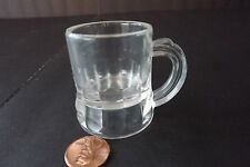 """Shot Glass or Mug, Clear Plastic,  1¾"""" tall by 1¼"""" dia.  Used but in Good  Condi"""