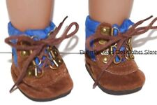 Blue/Brown Hiking Boots 18 in Boy Doll Clothes Fits American Girl