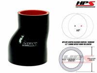 "HPS 2 3/8"" - 3"" 60mm - 76mm 4-Ply Silicone Offset Reducer Coupler Hose BLACK"