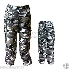 Motorcycle Grey Camo Protection Motorbike Rider Pant Jeans CE Protection Trouser
