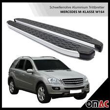 Schwellerrohre Aluminium Trittbretter für Mercedes ML W164 Blackline (183)