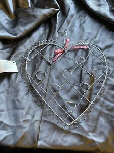 Heaven Sends Christmas Card Holder Metal Wire Hanger 24x24cm Holds 8 Cards - 56