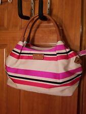 NWT Kate Spade Oak Island stripe multi bag CLUTCH Rare