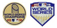 2018 WORLD SERIES TWO (2) PATCH COMBO WHITE CAP & GOLD CHAMPIONS BOSTON RED SOX