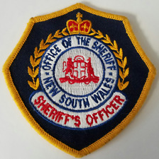 Office of the Sheriff New South Wales Sheriff's Officer Cloth Patch