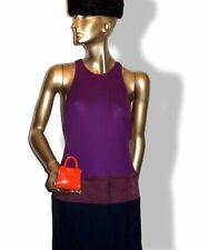 Delvaux Piment Brillant Leather Bag Charm Key Ring, NIB!