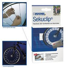 Bicicleta radios reflectores 3m sekuclip set 4 piezas universales