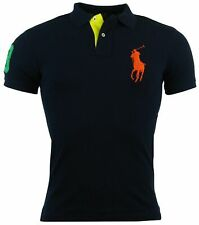 Polo Ralph Lauren Men's Custom Fit Big Pony Mesh Polo Shirt - S - Navy