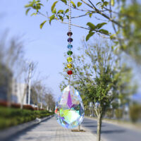 Window Hanging Handmade Suncatcher Crystal Prism Drop Pendant 76mm Wedding Decor
