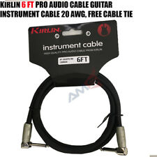 "Kirlin 6 Ft 1/4"" Mono Right-Angle Male/Male Guitar Instrument Pro Audio Cable"