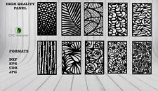 DXF-CDR of PLASMA LASER AND ROUTER Cut -CNC VECTOR 10 PANEL