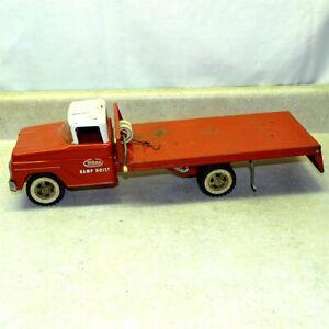Vintage Tonka Ramp Hoist Truck, Pressed Steel, 1963, Pressed Steel