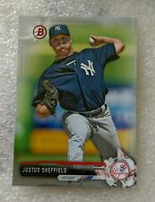 2017 BOWMAN #BP132 SILVER PARALLEL #484/499 JUSTUS SHEFFIELD NEW YORK YANKEES