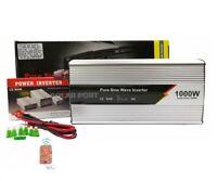 Inversor Onda Pura 1000W/2000W 12v LCD + Mando Distancia ideal caravanas barcos