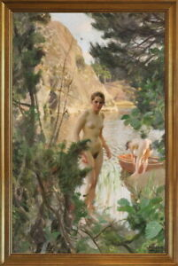Classic Framed Anders Zorn Painting 8 Giclee Canvas Print