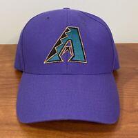 Arizona Diamondbacks Baseball Hat Snapback Cap Purple Mens Adult Plain Logo 90s