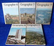 5 x DDR Geographie Schulbuch 6 7  9 10 11