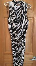 Form Fitting & Comfortable MICHAEL KORS Black & White Dress with Ruching Sz L/XL