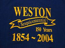 WESTON 150 YEAR Anniversary Celebration T Shirt Never Worn FREE Shipping Large