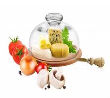 Campana di vetro con tagliere 25cm FORMAGGI campana-torte legno