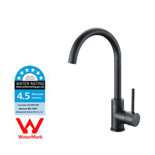 WELS Black Painting Deck Mounted Single Hole Kitchen Basin Sink Mixer Water Tap