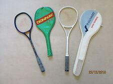 Deux au Squash Raquette en graphite Fiberglass en bleu et blanc pour les débutants