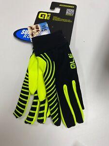 Alé Cycling Spirale Fleece Undergloves - Yellow Fluo/Black - XL-XXL