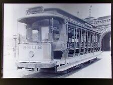1910s? New York Railways Trolley 195 St & Amsterdam NYC 3x5 Copy Photo Negative