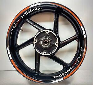Triumph STREET Triple Orange & REFLECTIVE White, Wheel Rims 025/054