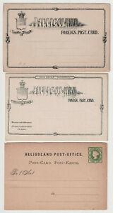 D2881: (3) 19th C Heligoland Postal Stationary Pieces