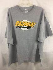 Big Bang Theory BAZINGA T-shirt Adult Size 4X Gray B20*N