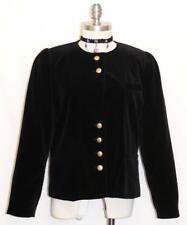 BLACK ~ COTTON VELVET ~  Women German Austria Evening Dress Suit JACKET 42 10 M
