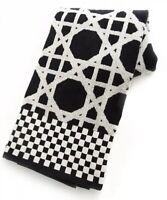 Mackenzie Childs TRELLIS w// Courtly Check Black /& White BATH TOWEL NEW $40 m19-2