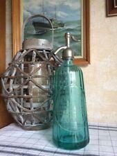 Siphon eau de seltz Bleu, ancien à facettes.
